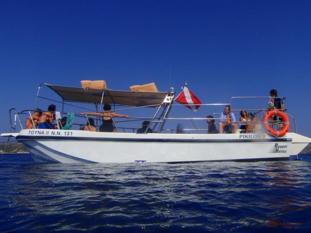 naxos diving bluefin 168